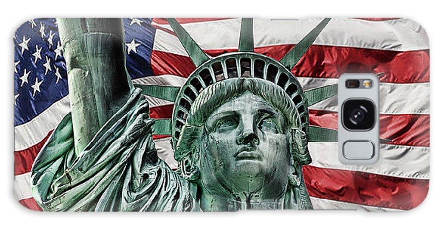 Lady Liberty Galaxy S8 Case featuring the photograph Spirit Of Freedom by Joachim G Pinkawa