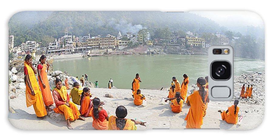 Rishikesh Haridwar Hindu Hinduism Religion Religious Pilgrim India Indian Ganga Ganges River Uttarakhand Himalaya Himalayas Himalayan Galaxy S8 Case featuring the photograph Spiritual India by Bhaswaran Bhattacharya