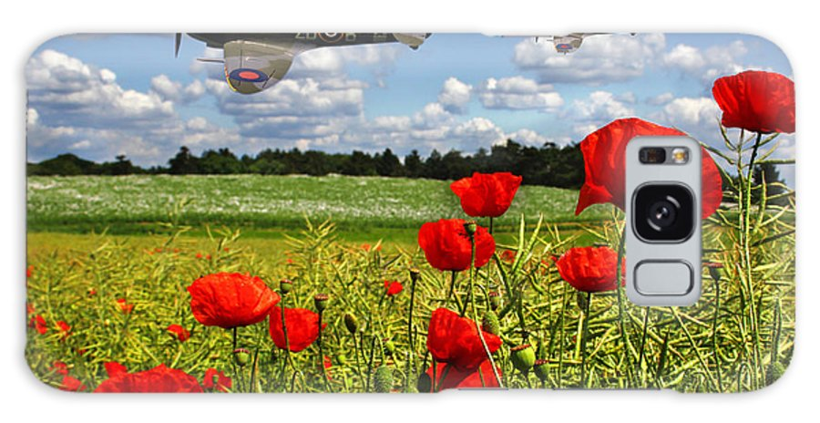 Raf Galaxy S8 Case featuring the photograph Spitfires And Poppy Field by Ken Brannen