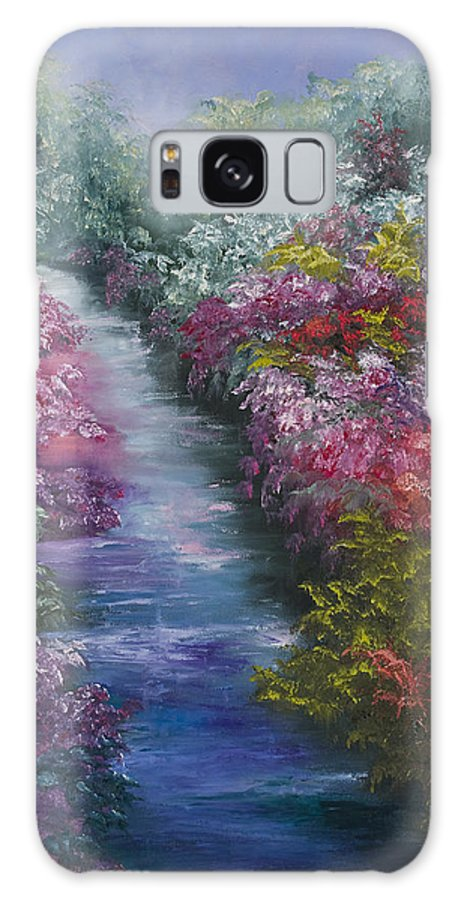 Landscape Galaxy Case featuring the painting Splash Of Spring by Darice Machel McGuire