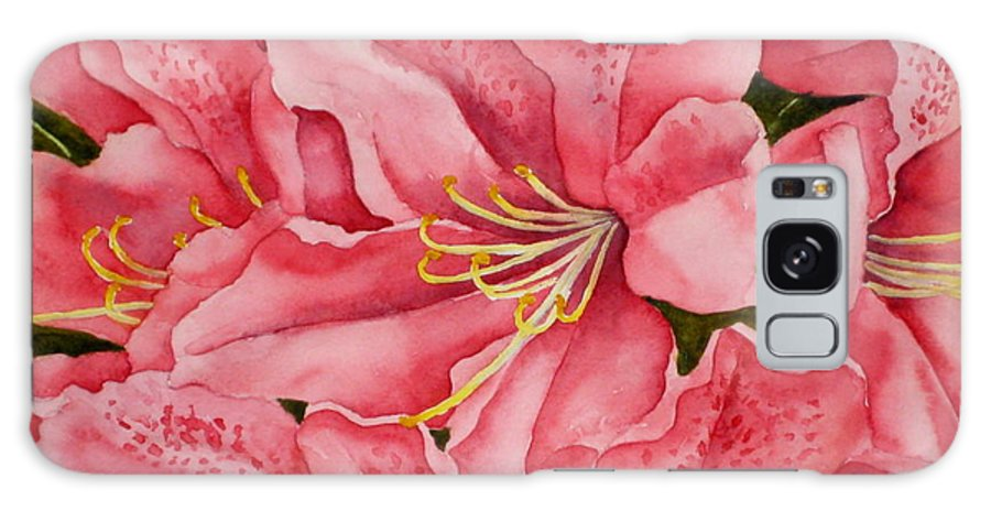 Watercolor Galaxy S8 Case featuring the painting Spring Azalea by Darla Brock