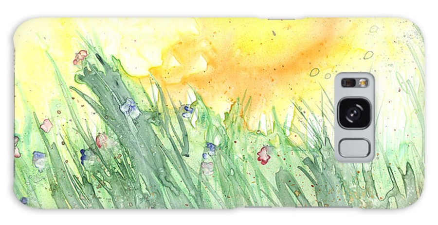 Landscape Galaxy Case featuring the painting Spring Blooms by Christine Callahan
