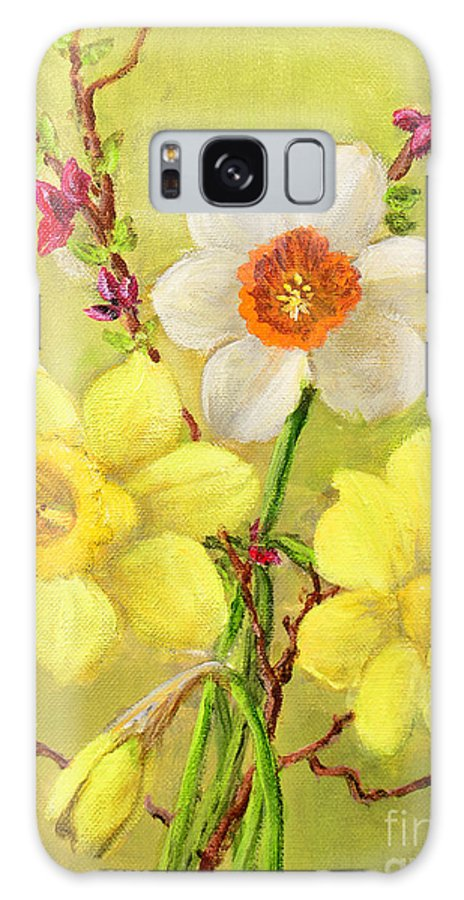 Spring Galaxy S8 Case featuring the painting Spring Flowers by Randy Burns