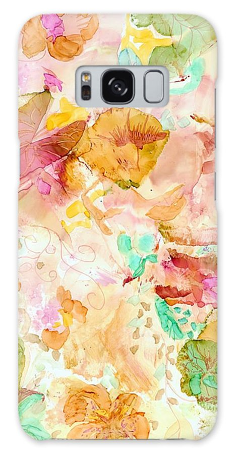 Garden Galaxy S8 Case featuring the painting Spring Garden by Susan Kubes