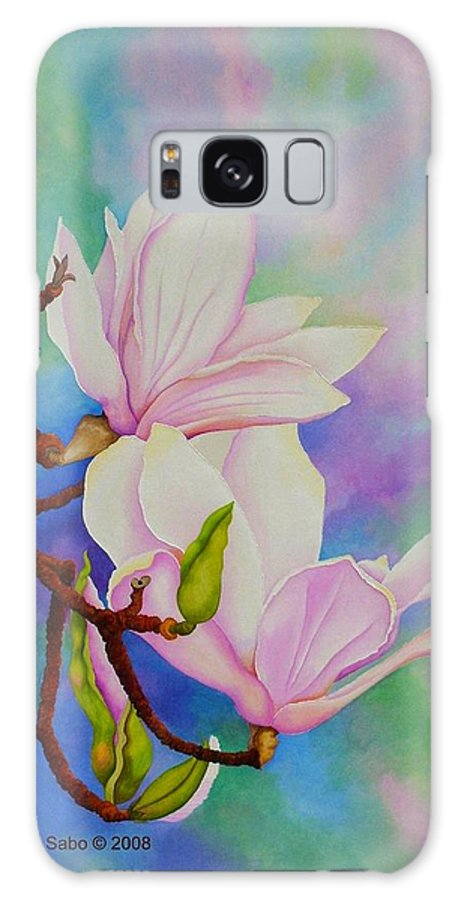 Pastels Galaxy S8 Case featuring the painting Spring Magnolia by Carol Sabo