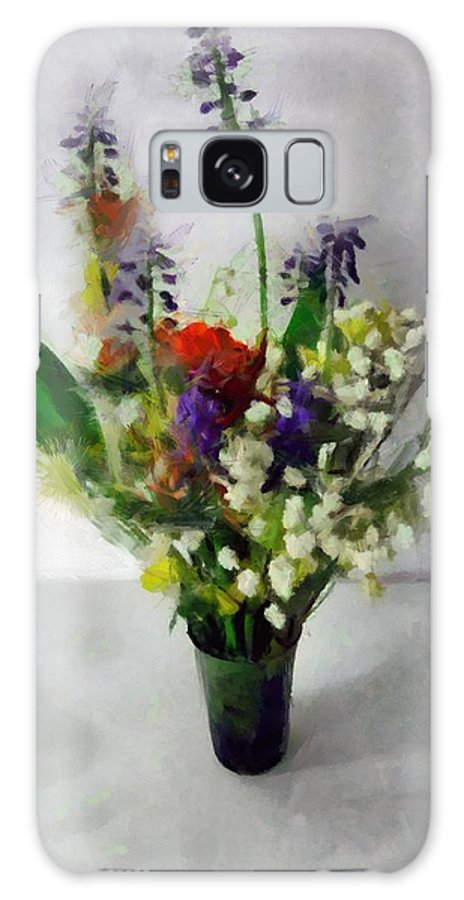 Flowers Galaxy S8 Case featuring the painting Spring Motley by RC DeWinter