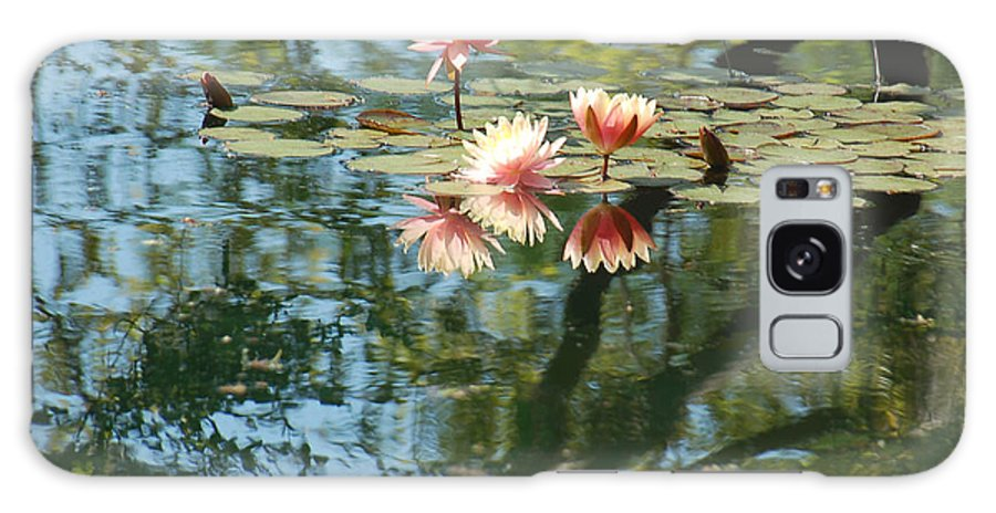 Pink Water Lily Galaxy S8 Case featuring the photograph Spring Reflections by Suzanne Gaff
