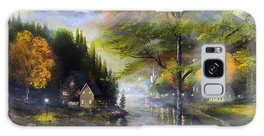Mountain Galaxy S8 Case featuring the painting Spring Valley by David Rhodes