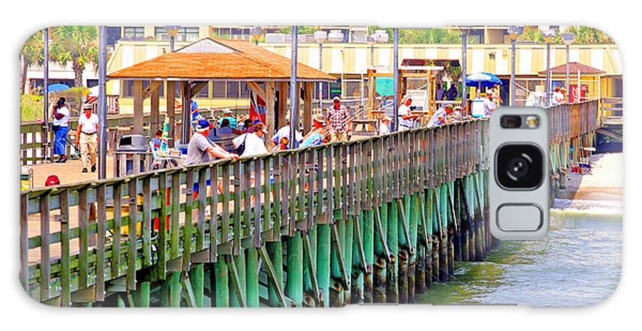 Springmaid Beach Pier Galaxy S8 Case featuring the photograph Springmaid Beach Pier 2006 by Joseph C Hinson Photography