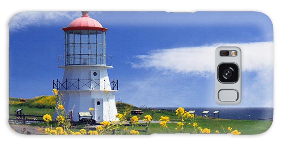 Lighthouse Galaxy S8 Case featuring the photograph Springtime Lighthouse by James Eddy