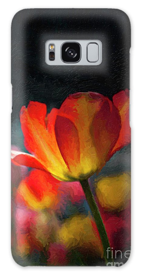 'happy Flowers' Galaxy S8 Case featuring the photograph Springtime Tulips Digital Painting by Linda Matlow
