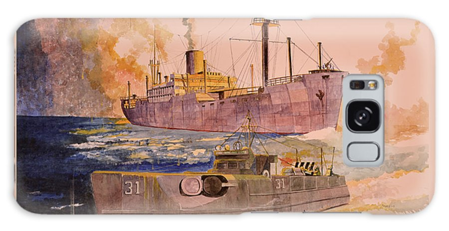 Wwii Galaxy S8 Case featuring the painting Ss Glenorchy by Ray Agius