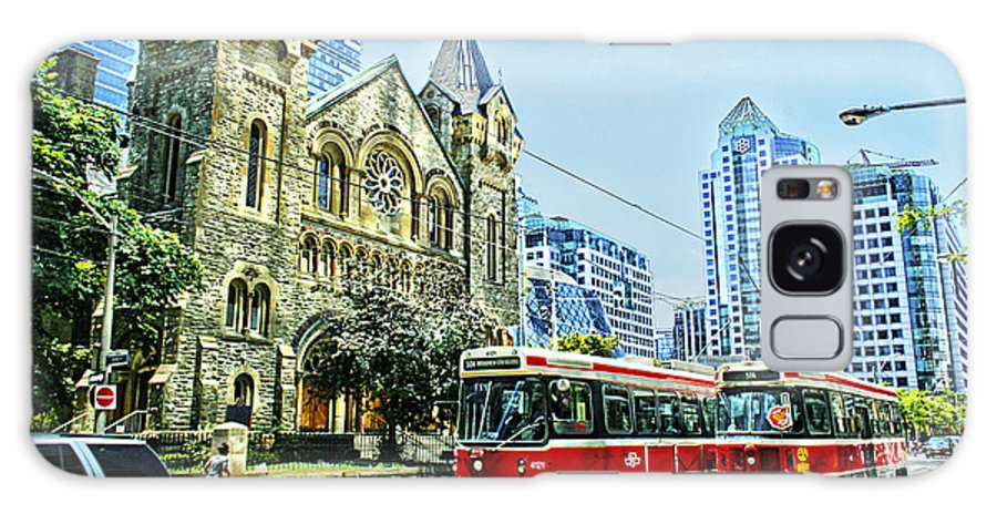 Toronto Galaxy S8 Case featuring the photograph St Andrew Church In Toronto by Alex Pyro