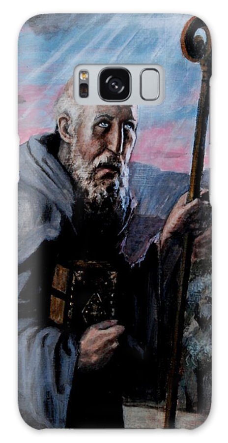 Saint Galaxy S8 Case featuring the painting St. Benedict by Peter Murphy