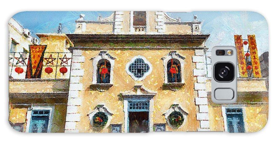 St. Francis Xavier Chapel Galaxy S8 Case featuring the painting St. Francis Xavier Chapel Macau by Patricia Soon