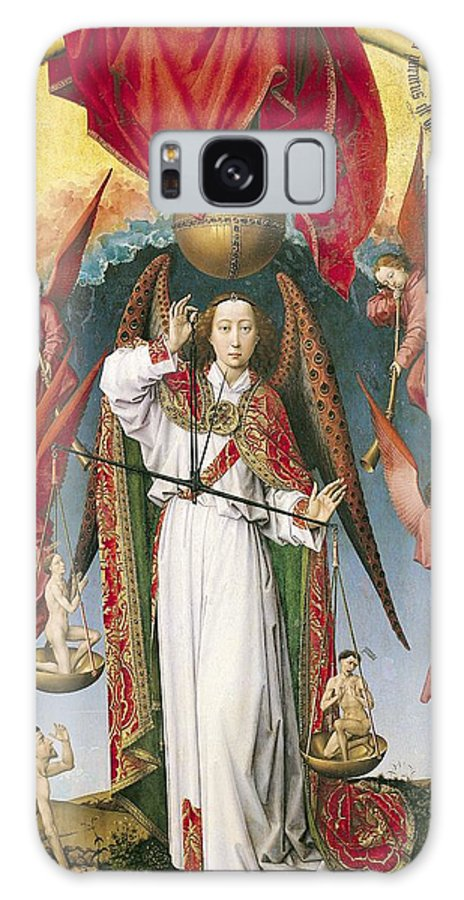 Northern Renaissance Galaxy S8 Case featuring the photograph St. Michael Weighing The Souls, From The Last Judgement, C.1445-50 Oil On Panel Detail Of 170072 by Rogier van der Weyden