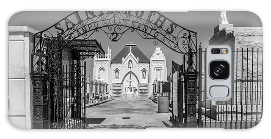 Cemetery Galaxy S8 Case featuring the photograph St Roch's Cemetery Bw by Steve Harrington