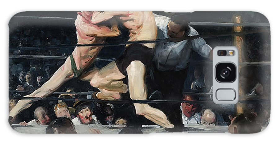 Boxing Galaxy S8 Case featuring the painting Stag At Sharkey's Bar 1909 by Mountain Dreams