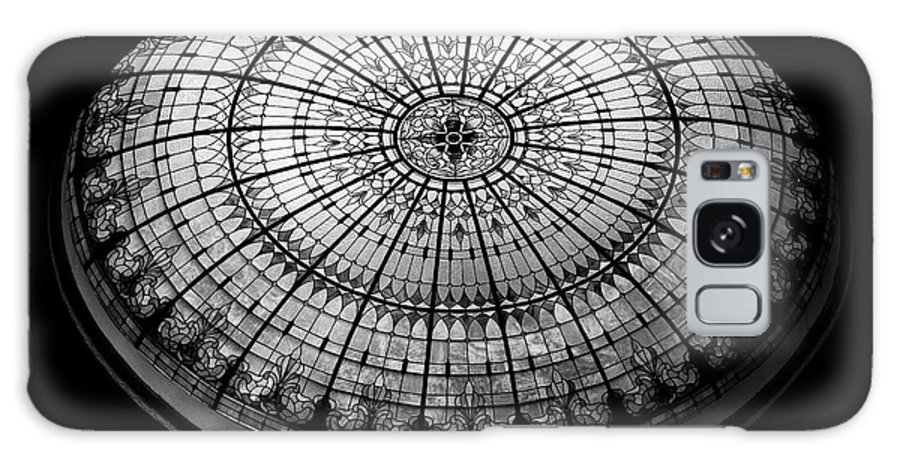 Stained Glass Galaxy S8 Case featuring the photograph Stained Glass Dome - Bw by Stephen Stookey