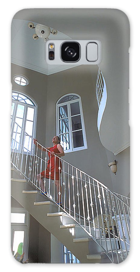 Woman Galaxy S8 Case featuring the photograph Staircase At Endless Summer Villa by Carl Purcell