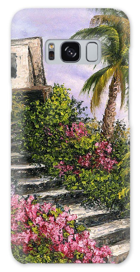Mexico Galaxy S8 Case featuring the painting Stairway Garden by Darice Machel McGuire