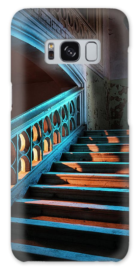 Steps Galaxy Case featuring the photograph Stairway In Abandoned European Castle by Matjaz Slanic
