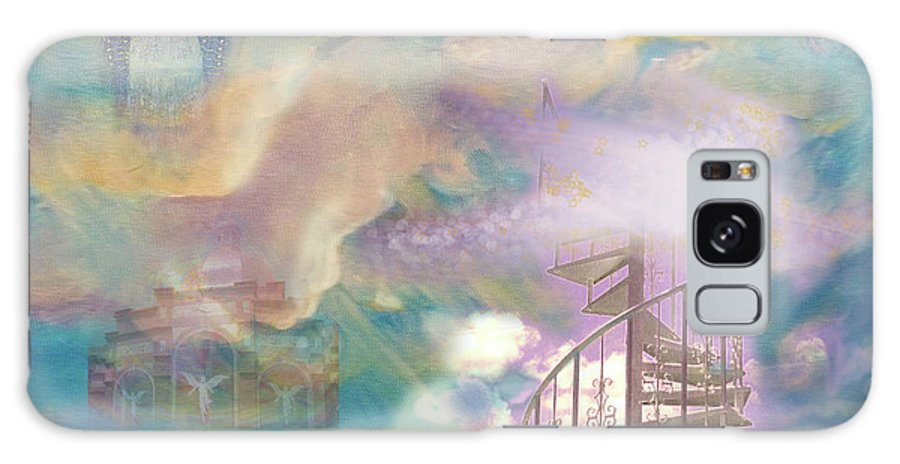 Heaven Galaxy S8 Case featuring the painting Stairway To Heaven by Anne Cameron Cutri