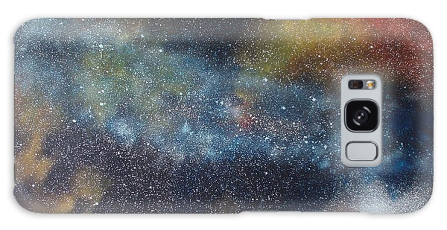 Space;stars;starry;nebula;spiral;galaxy;star Cluster;celestial;cosmos;universe;orgasm Galaxy Case featuring the painting Stargasm by Sean Connolly
