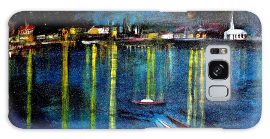 Rick Todaro Paintings Galaxy S8 Case featuring the painting Starry Night Over The Rhone River by Rick Todaro