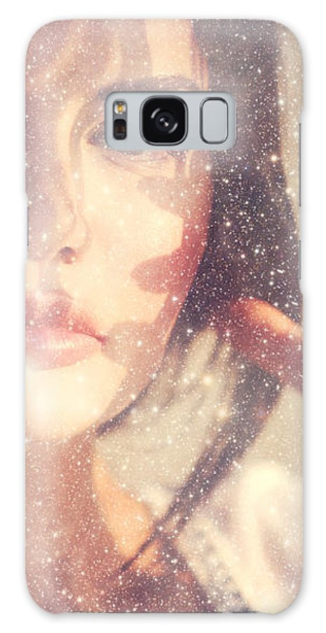 Woman Galaxy S8 Case featuring the photograph Starry Woman. Day Dreamer by Jenny Rainbow