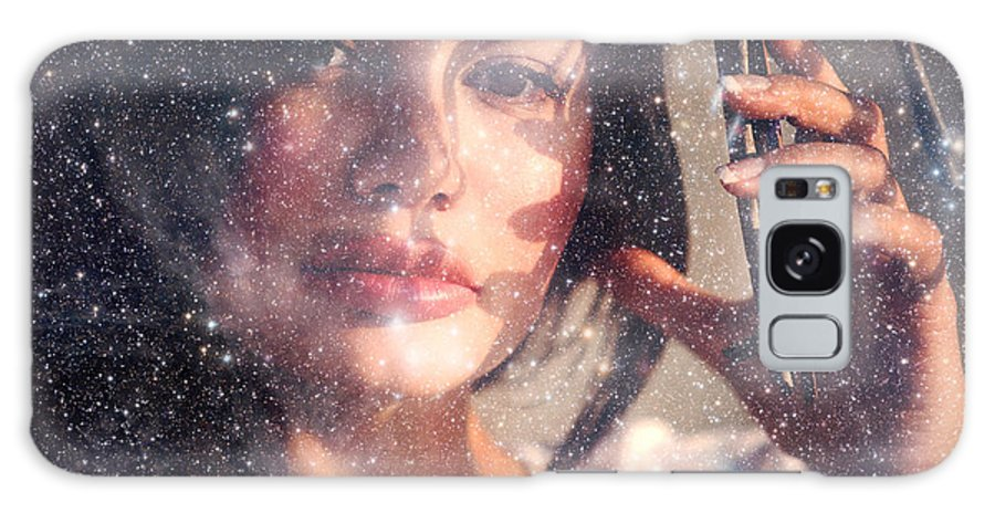Woman Galaxy S8 Case featuring the photograph Starry Woman by Jenny Rainbow