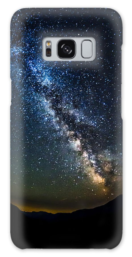 Milky Way Galaxy S8 Case featuring the photograph Stars And Midnight Blue by Andrei Verdeanu