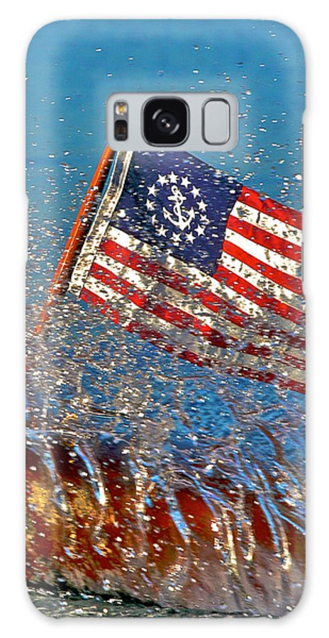 American Flag Galaxy S8 Case featuring the photograph Stars And Strips At Lake Tahoe by Steven Lapkin