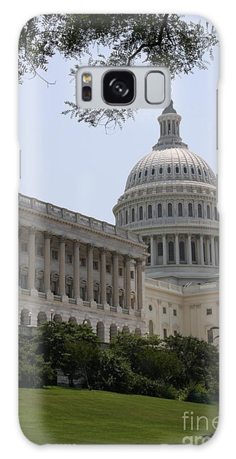 Capitol Galaxy S8 Case featuring the photograph State Capitol Washington Dc by Christiane Schulze Art And Photography
