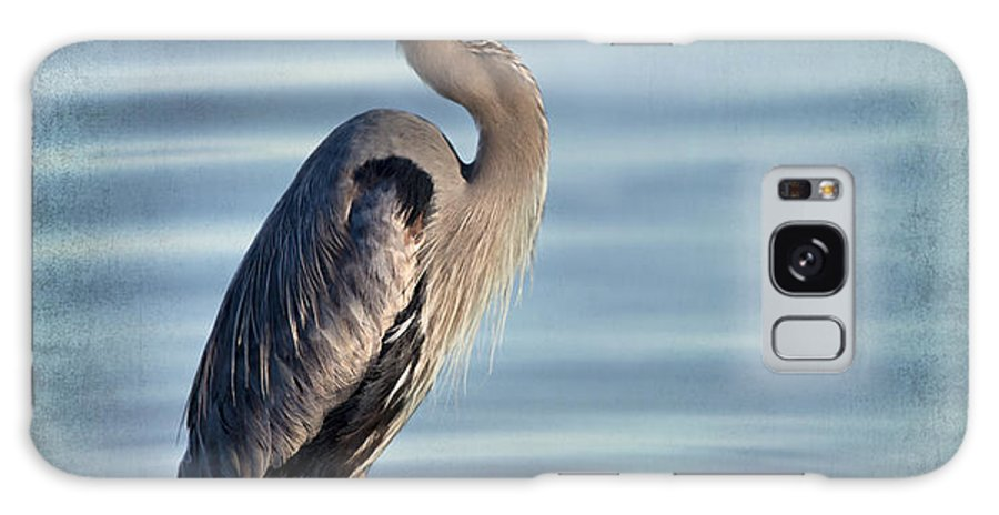 Great Blue Heron Galaxy S8 Case featuring the photograph Stately-great Blue Heron by Betty LaRue