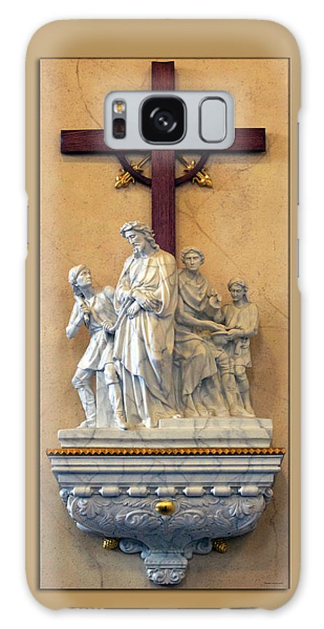 Statue Galaxy S8 Case featuring the photograph Station Of The Cross 01 by Thomas Woolworth