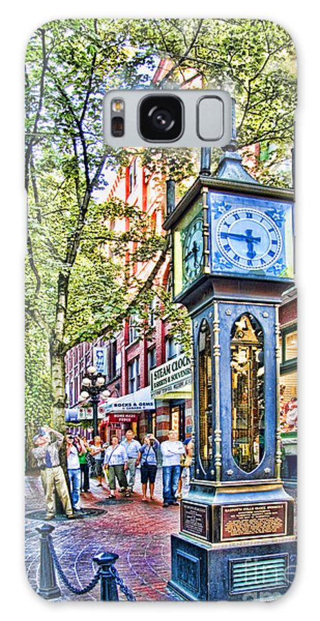 Steam Galaxy S8 Case featuring the photograph Steam Clock In Vancouver Gastown by David Smith