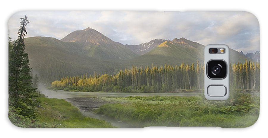 Light Galaxy S8 Case featuring the photograph Steam Rising From Moores Hot Springs by Peter Mather