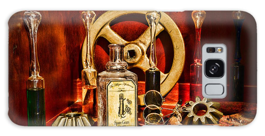 Paul Ward Galaxy S8 Case featuring the photograph Steampunk - Spare Gears - Mechanical by Paul Ward