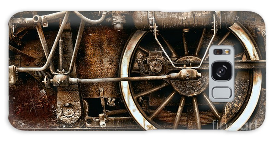 Wheels Galaxy S8 Case featuring the photograph Steampunk- Wheels Of Vintage Steam Train by Daliana Pacuraru