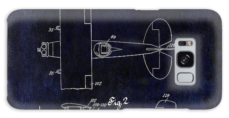 Stearman Airplane Galaxy S8 Case featuring the photograph 1929 Stearman Patent Drawing Blue by Jon Neidert