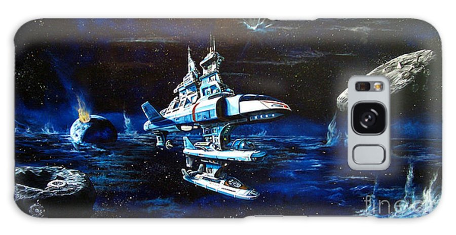 Alien Galaxy S8 Case featuring the painting Stellar Cruiser by Murphy Elliott