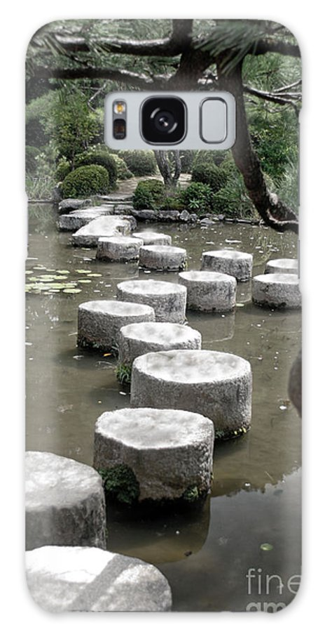 Kyoto Galaxy S8 Case featuring the photograph Stepping Stone Kyoto Japan by Thomas Marchessault