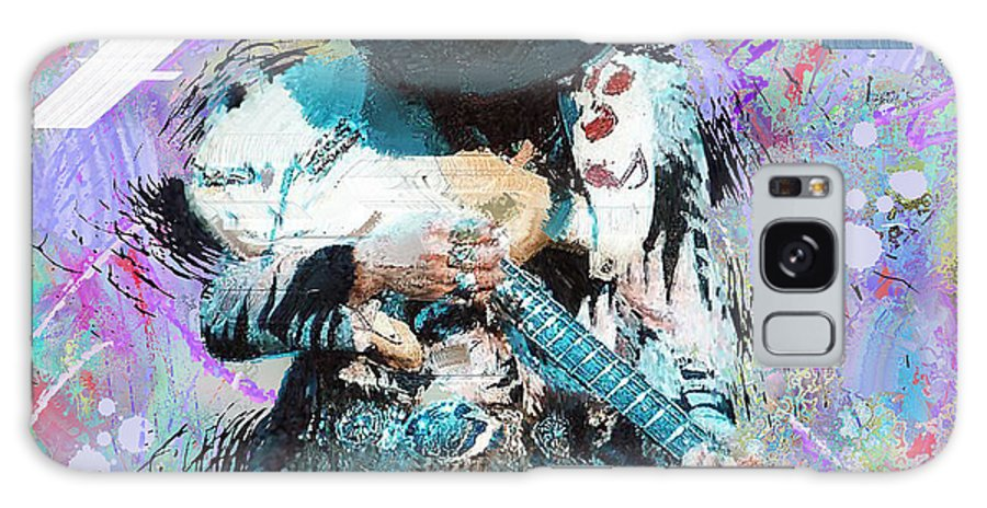 Stevie Ray Vaughan Paintings Galaxy S8 Case featuring the painting Stevie Ray Vaughan #4 by Donald Pavlica