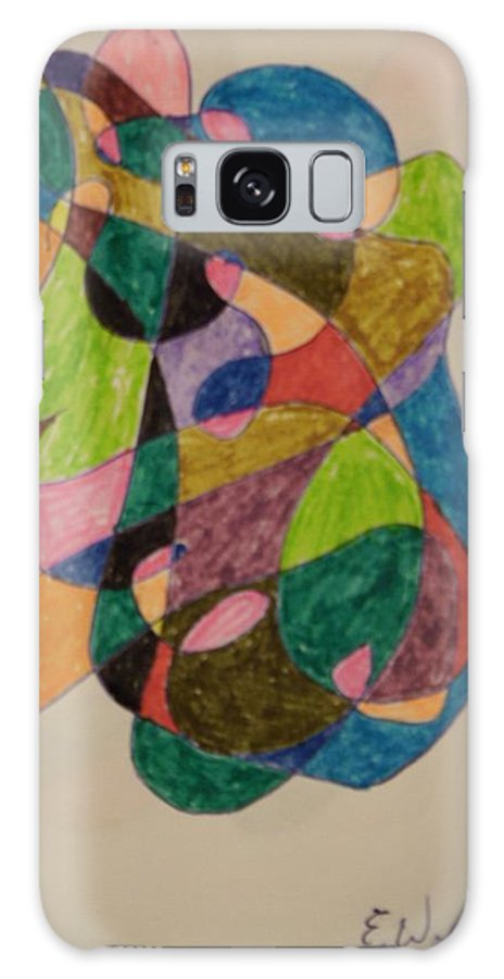 Tongue Galaxy S8 Case featuring the painting Sticking Your Tongue Out by Edward Wolverton