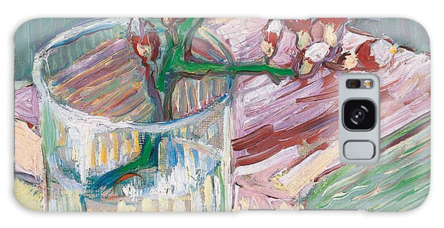 Still-life Galaxy S8 Case featuring the painting Still Life  A Flowering Almond Branch by Vincent Van Gogh