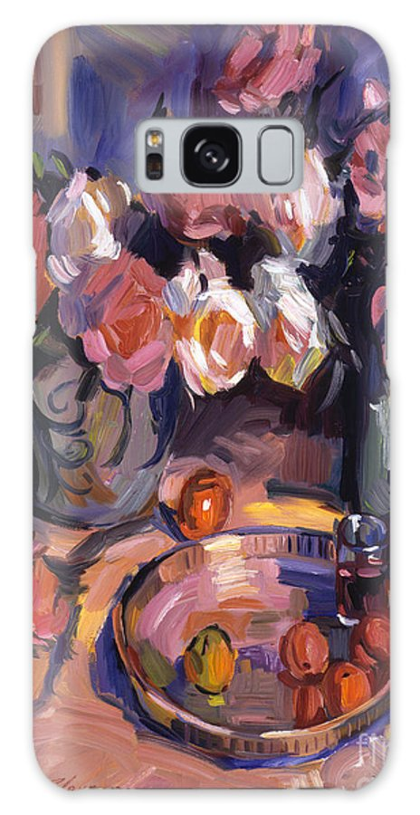 Impressionist Galaxy S8 Case featuring the painting Still Life Apres Manet by David Lloyd Glover