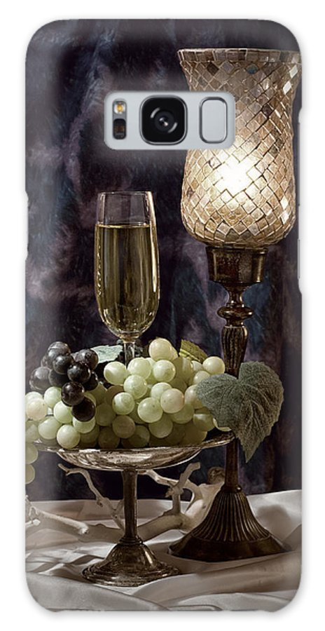 Wine Galaxy S8 Case featuring the photograph Still Life Wine With Grapes by Tom Mc Nemar