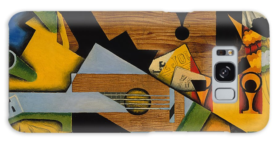 Still Life Galaxy S8 Case featuring the painting Still Life With A Guitar by Mountain Dreams
