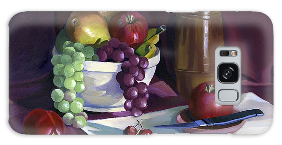 Fine Art Galaxy Case featuring the painting Still Life With Apples by Nancy Griswold
